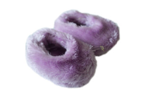 Lavender Fuzzy Slippers For American Girl Dolls