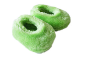 Lime Green Fuzzy Slippers For American Girl Dolls