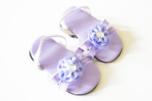 Lavender Triple Carnation Summer Sandals