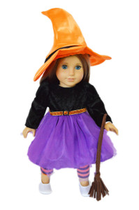 Purple Witch Costume for American Girl Dolls