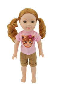 Kitten Outfit for Wellie Wisher Dolls