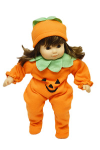 Pumpkin Costume for American Girl Dolls Bitty Twins