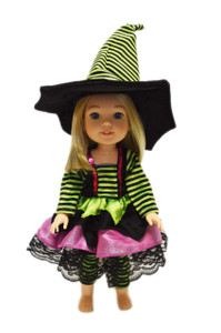 Modern Witch Outfit For American Girl Dolls Wellie Wishers