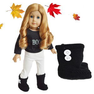 Black Button Boots for American Girl Dolls and Bitty Twins