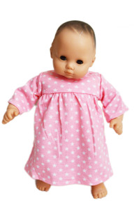 Pink Star Nightgown For American Girl Dolls Bitty Baby