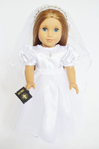COMMUNION GOWN WITH RHINESTONES