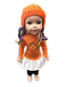 My Brittany's Fall Pumpkin Outfit For American Girl Doll Wellie Wishers