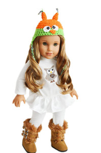 My Brittany's Owl Outfit for American Girl Dolls- Free Shipping