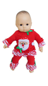 My Brittany's Santa Pj's for American Girl Dolls' Bitty Baby