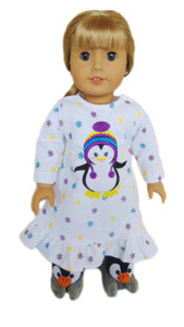 My Brittany's White Penguin Nightgown with Slippers for American Girl Dolls