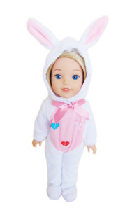 My Brittany's White Bunny Outfit for Wellie Wisher Dolls