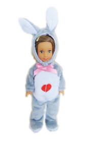 My Brittany's Mini Grey Easter Bunny Costume for Mini AG Dolls
