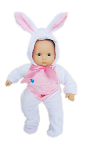 My Brittany's White Easter Bunny Costume for Bitty Baby