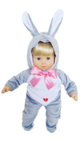 My Brittany's Grey Easter Bunny Costume for Bitty Twins Dolls