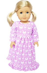 My Brittany's Lavender Bunny Nightgown for American Girl Dolls