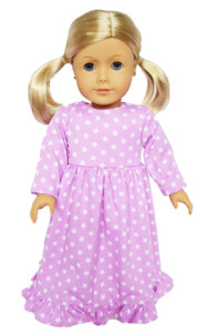 My Brittany's Lavender Star Nightgown for American Girl Dolls