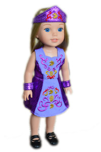 My Brittany's Lavender Irish Outfit for Wellie Wisher Dolls