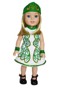 My Brittany's Green Irish Dance Outfit for Wellie Wisher Dolls