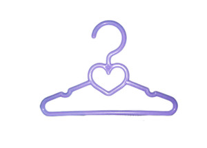 My Brittany's 5.5 Inch Lavender Heart Hangers for Wellie Wisher Dolls