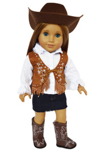 My Brittany's Brown Gem Western Outfit For American Girl Dolls