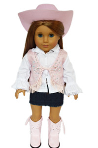 My Brittany's Pink Gem Western Outfit for American Girl Dolls