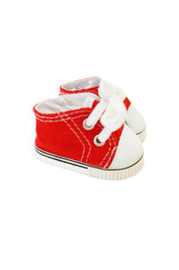 My Brittany's Red Canvas Sneakers for Wellie Wisher Dolls