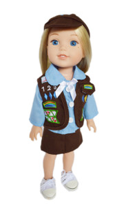 My Brittany's Brownie Girl Scouts Outfit Skirt Version for Wellie Wisher Dolls