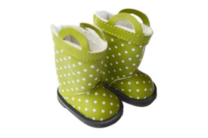 My Brittany's Green Polk Dot Rain Boots for Wellie Wisher Dolls