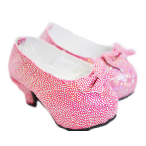 My Brittany's Pink Bow High Heel Shoes for Wellie Wisher Dolls