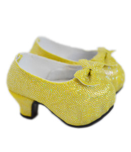 My Brittany's Belle Yellow high Heel Shoes for American Girl Dolls