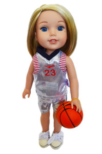 My Brittany's All American White Basketball for Wellie Wisher Dolls