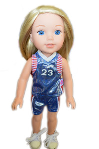 My Brittany's Blue Basketball for Wellie Wisher Dolls