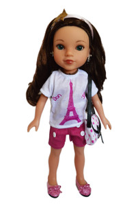 My Brittany's Paris Outfit for Wellie Wisher Dolls-Complete with Purse and Shoes