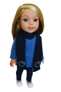My Brittany's Blue Leggings Set for Wellie Wisher Dolls