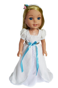 My Brittany's White Victorian Gown for Wellie Wisher Dolls