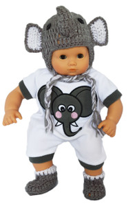 "My Brittany's ""I'm a Little Elephant"" Outfit for Bitty Baby Dolls"