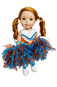 My Brittany's Orange and Blue Cheerleader for Wellie Wisher Dolls