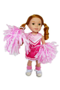 My Brittany's Pink Cheerleader Outfit for Wellie Wisher Dolls