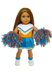 My Brittany's Orange and Blue Cheerleader Outfit for American Girl Dolls