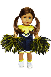 My Brittany's Blue and Yellow Cheerleader Outfit for American Girl Dolls