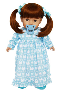 My Brittany's Tiny Tots Baby Girl Doll in Blue Nightgown with Pacifier