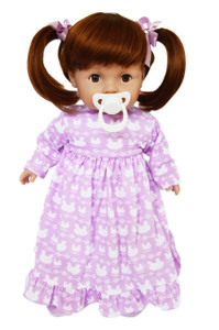 My Brittany's Tiny Tots Baby Girl Doll with Lavender Nightgown