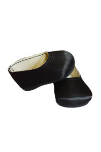 My Brittany's Black Satin Flats for Wellie Wisher Dolls