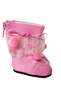My Brittany's Berry Pink Pom Boots for Wellie Wisher Dolls