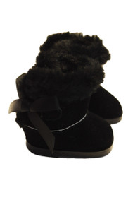 My Brittany's Black Bow Boots for Wellie Wisher Dolls