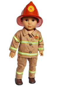 My Brittany's Fireman with Hat for American Girl Boy Dolls-
