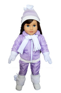 My Brittany's Purple Snow Pants and Jacket Set for American Girl Dolls