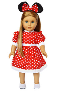 My Brittany's Red Mouse Dress for American Girl Dolls