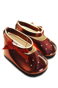 My Brittany's Burgundy Dance Flats for  Wellie Wisher Dolls