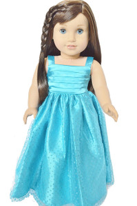 My Brittany's Blue Sparkle Gown for American Girl Dolls- 18 Inch Doll Clothes